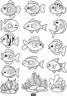 coloring pages coloring pages for kids coloring pages free printable kindergarten - Art interests Coloring Pages For Grown Ups, Fish Coloring Page, Free Adult Coloring Pages, Coloring Pages To Print, Free Printable Coloring Pages, Coloring For Kids, Coloring Books, Free Printables, Kindergarten Coloring Pages