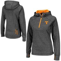 Tennessee Volunteers Ladies Chelsea Quarter-Zip Jacket - Charcoal   size M
