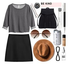 """""""Keeping things casual"""" by rheeee ❤ liked on Polyvore featuring STELLA McCARTNEY, H&M, Violeta by Mango, Bare Escentuals, philosophy, Ella Doran and Faber-Castell"""
