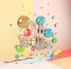 CG Typography - Oh Balls! on Behance