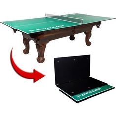 Dunlop 4-Piece Table Tennis Conversion Top - Includes Net and Post Set