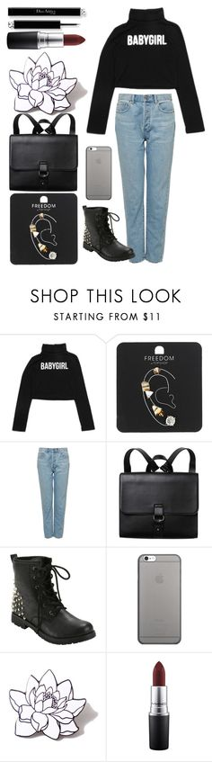 """Без названия #98"" by qa8700777 on Polyvore featuring мода, Topshop, Monki, Native Union, PINTRILL и MAC Cosmetics"