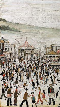 Pinceladas Laurence Stephen Lowry - http://redarte.com.ar/2013/06/pinceladas-laurence-stephen-lowry/ #RedArte #Art #Arte