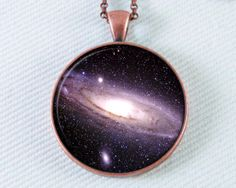Galaxy Necklace Outer Space Jewelry Astronomy Star by 162PENS, $15.00