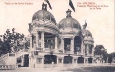 Pabellón Ayuntamiento Feria Julio inaugurado en 1926.