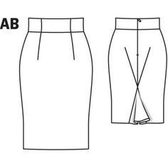 Pinstripe Pencil Skirt 02/2011#103B
