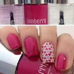 Blog: www.lacqueristhebestmedicine.com loves Jamberry Nails lacquer and wraps!! #lacquer #jamberrynails #hearts #pink #kiss  #nails #nailart #polish