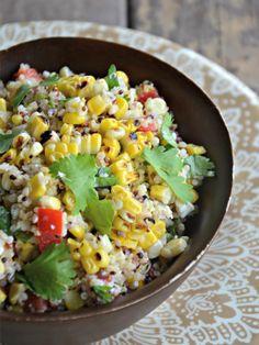 Charred Corn & Quinoa Salad - Mountain Mama Cooks