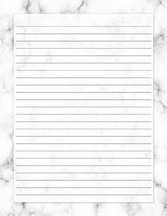 Free printable white marble stationery for x 11 paper. Stationary Printable Free, Printable Lined Paper, Printable Scrapbook Paper, Printable Letters, Marble Printable, Marble Planner, Ruled Paper, Stationary Design, Menu Design