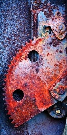 Rusty Metal Parts . red and blue lavender Texture Metal, Texture Art, Rusted Metal, Metal Art, Arte Yin Yang, Rust Never Sleeps, Growth And Decay, Rust In Peace, Peeling Paint