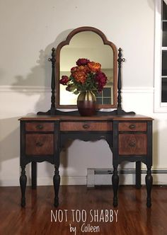 Antique vanity refinished with Junk Gypsy Rebel Child