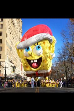 #spongebob #cartoon #float #parade #nyc #thanksgiving