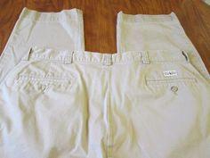 Polo Ralph Lauren CLASSIC CHINO Flat Front Pants (Men's 32x32) Khaki