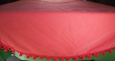 Red Dotted Swiss Round Tablecloth 60 Round by ShellyisVintage #GotVintage #Vintage #Textiles #Linens