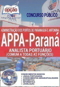 Apostila Concurso Appa Parana 2016 Cargo Analista Portuario