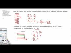 This is a 5 minute intro to dividing fractions. We work out 2 problems - one resulting in a whole number and one resulting in a fraction. This is geared toward grade common core math. FREE Video - Hope this helps. Dividing Fractions, Math Fractions, Maths, Math Helper, Math Charts, Common Core Math Standards, Fifth Grade Math, Math Classroom, Classroom Ideas