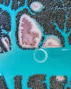 Harra Sea Forest, Qeshm Island, Persian Gulf, Iran (Persian: عکس هوایی , قشم , جنگل حرا) Photo by: Vahid Yousefian
