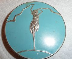 Vintage Art Deco Ladies Powder Compact | eBay