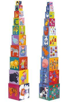 wieża z pudełek djeco
