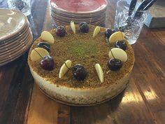 Pistachio & Sour Cherries Cheese Cake (Pierre Hermé)