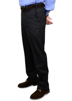 BERLE Black Wool Waistband Trouser