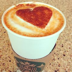 Starbucks art, perfect treat for a special someone Best Starbucks Coffee, Starbucks Art, Best Coffee, Coffee Cup, Coffee Tasting, Coffee Drinkers, Bebidas Do Starbucks, Coffee Heart, Coffee Company