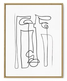 Contour Drawing, Wall Drawing, Br House, Abstract Face Art, Canvas Art, Canvas Prints, White Art, Printable Wall Art, Framed Art