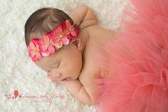 Coral flowers Newborn Tutu, Baby Tutu, Newborn Headbands, Newborn Photo Props, Newborn Photos, Rick Rack Flowers, Baby Girl Photos, Hydrangea Flower, Coral Pink