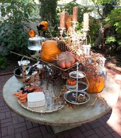 Beautiful outdoor Fall Table from Nell Hill's Blog. #Fall