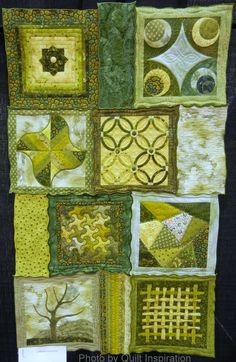 Éclat de Verts (burst of green) by Dominique Briet. French Patchwork.  2014 Road to California, photo by Quilt Inspiration