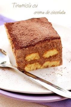 Reteta italiana de tiramisu cu crema de ciocolata. Tiramisu fara oua crude. Modalitate de preparare si ingrediente necesare.