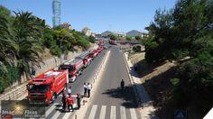 Bombeiros na marginal sem carros 1 de junho de 2014