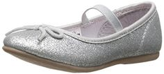 carter's Ballet Flat (Toddler/Little Kid): Your princess knows that polish isn't just for nails. The refined touches -- glitter finish and a delicate bow -- take the Ruby flat into dressy territory. Shoe Storage, Keds, Girls Shoes, Ballet Flats, Sneakers, Image Link, Delicate, Polish, Bow