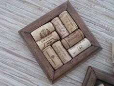 DIY Wine Cork Crafts | Crafts with Wine Corks - DIY Wood Coasters - reclaimed wood - reuse ...