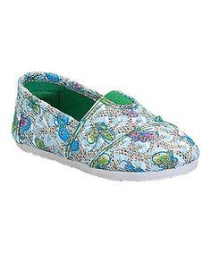 Belladia Light Blue Butterfly Tomy Slip-On Shoe by Belladia #zulily #zulilyfinds