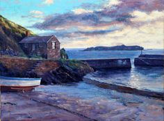 Andrew Barrowman 'Summer evening at Mullion Cove' oil on canvas