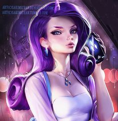 Rarity from my Lil pony :3 one of my favorite ponies❤❤ fun Lil painting