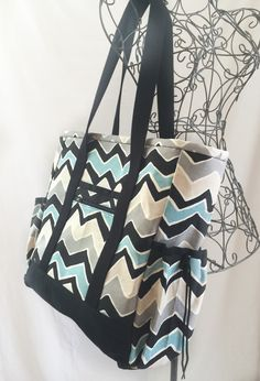 Black Large Tote Bag with Pockets, Kitchen Sink Tote, Professional ...
