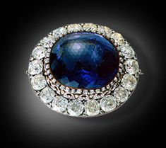 Romanov Jewels | Sapphires - I have seen this incredible piece at an exhibit at the Brooks Museum in Memphis. It is 25 carats of awesome sapphire not to mention the diamonds!