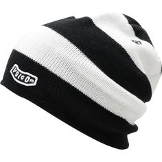 Volcom Circle Black White Beanie ($20) ❤ liked on Polyvore