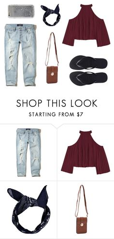 """Untitled #4"" by trsca on Polyvore featuring Hollister Co., W118 by Walter Baker, Boohoo, Havaianas, Epic Chic and Agent 18"