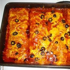 Enchiladas (The Pioneer Woman) Must try--Always looking for the best enchiladas.