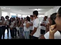 Brazilian Teacher shows Students how to put on a condom using only her mouth