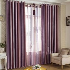 Siena Home Fashions Buona Notte Blackout Curtain Silver Siena - Amazon living room curtains