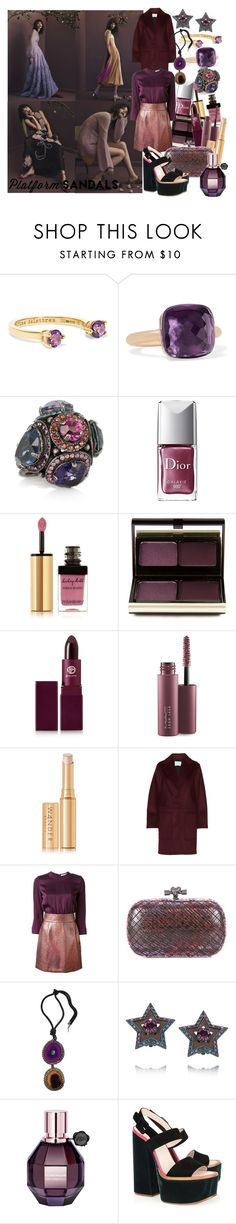 """""""Stand Up! Platform Sandals"""" by brownish ❤ liked on Polyvore featuring Delfina Delettrez, Pomellato, Lanvin, Christian Dior, Yves Saint Laurent, Kevyn Aucoin, Lipstick Queen, MAC Cosmetics, Wander Beauty and Alexander Wang"""