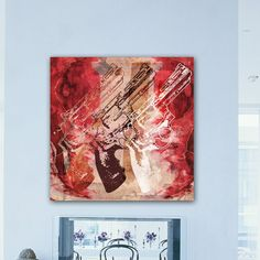 """LAB Creative """"Guns and Roses"""" Graphic Art on Canvas"""