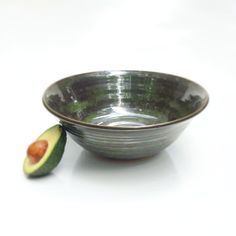This large bowl is perfect for serving salads, pasta, soups, and stews. Its about 4.5 inches tall and 12 inches wide at the rim, and its made out of