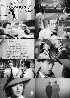 Casablanca (1942) - Humphrey Bogart, Ingrid Bergman, Claude Rains, Paul Henreid - One of the most Iconic War time love stories set in II World War period. Considered among the 10 best films ever made. Must see movie anytime.