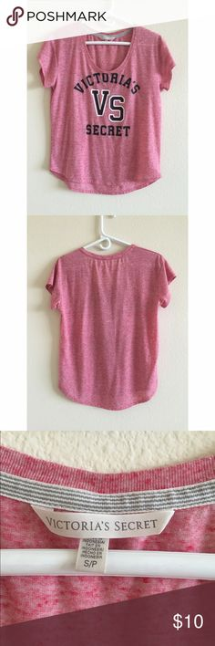 Victoria's Secret Tee Shirt Pink Victoria's Secret scoop-neck tee shirt in excellent condition. Like new. Size small. Victoria's Secret Tops Tees - Short Sleeve