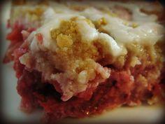 Rhubarb strawberry raspberry slab pie